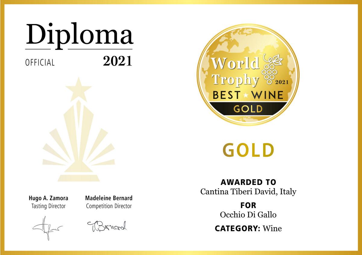 World Trophy Best Wine Gold Medal 2021
